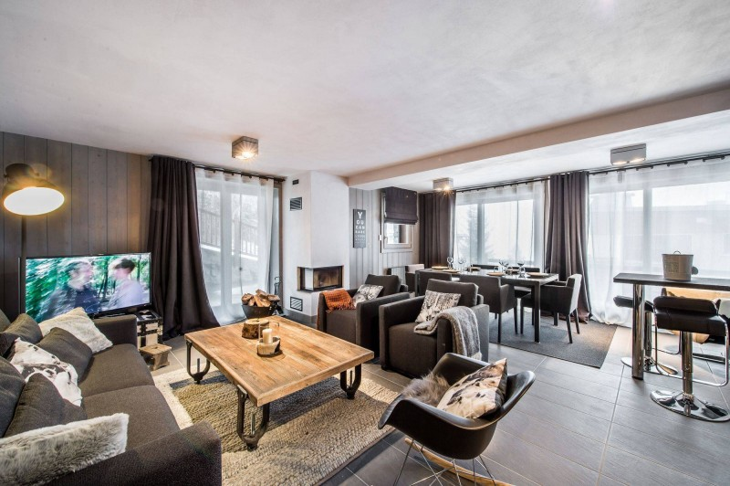 Courchevel 1650 Luxury Rental Appartment Dalersi Living Room