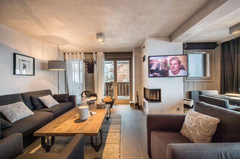 Courchevel 1650 Luxury Rental Appartment Simeline Living Room