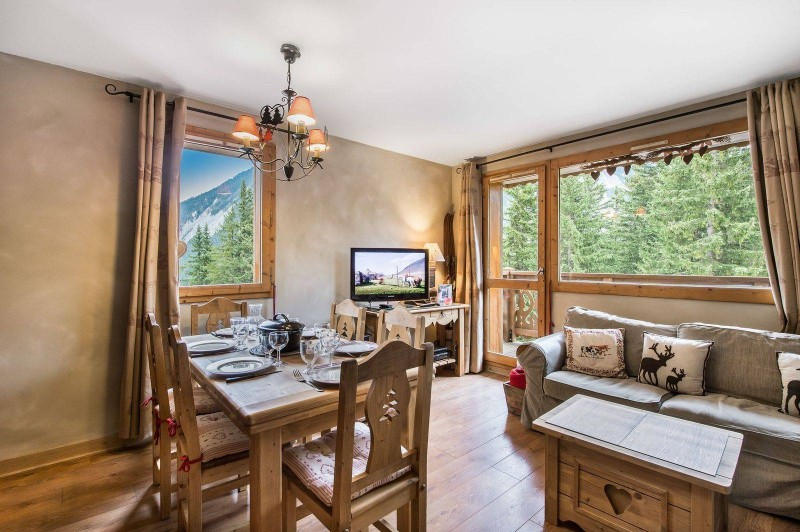 Courchevel 1650 Luxury Rental Appartment Temadere Living Room