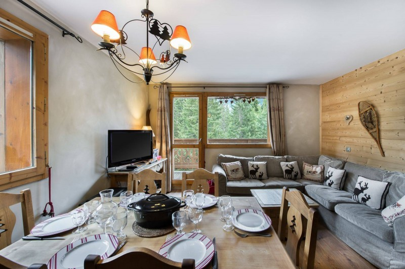 Courchevel 1650 Luxury Rental Appartment Temadere Living Room 2