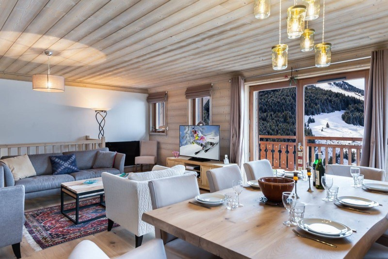 Courchevel 1650 Luxury Rental Appartment Living Room 4