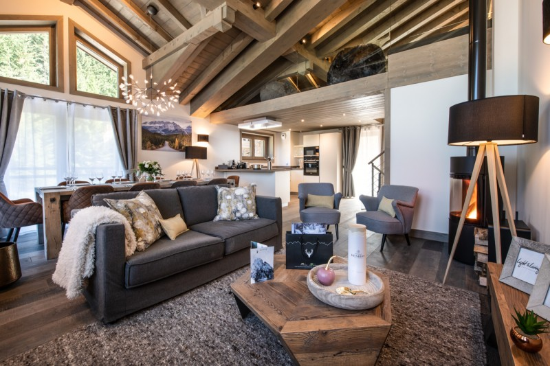 Courchevel 1650 Location Chalet Luxe Akarlonte Séjour 2