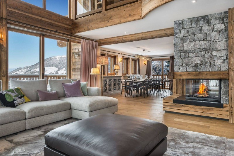 Courchevel 1650 Luxury Rental Chalet Ebella Living Room 2