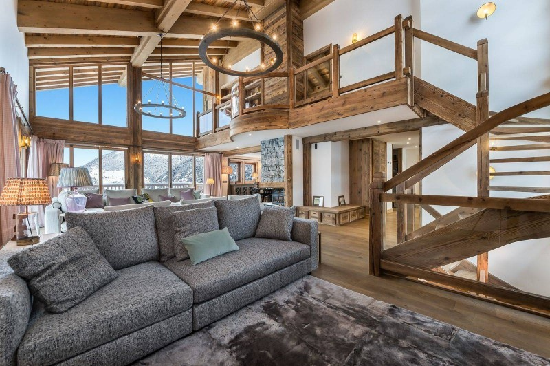 Courchevel 1650 Luxury Rental Chalet Ebella Living Room 4