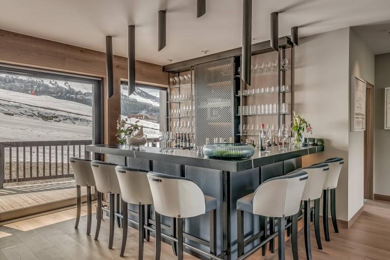 Courchevel 1650 Luxury Rental Chalet Elana Bar