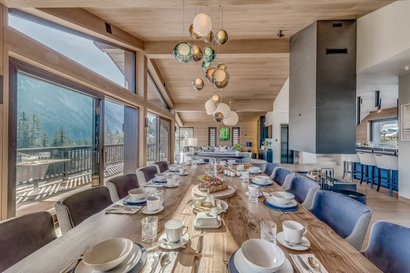 Courchevel 1650 Luxury Rental Chalet Elana Dining Room 2