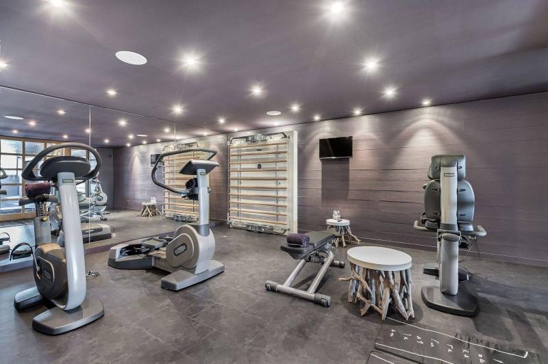 Courchevel 1650 Luxury Rental Chalet Nexilovite Fitness Room