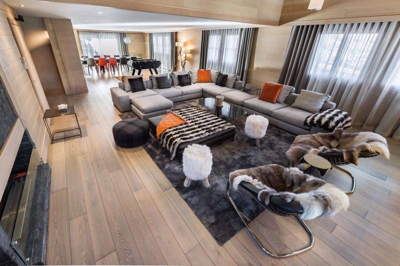 Courchevel 1650 Luxury Rental Chalet Nexilovite Living Room