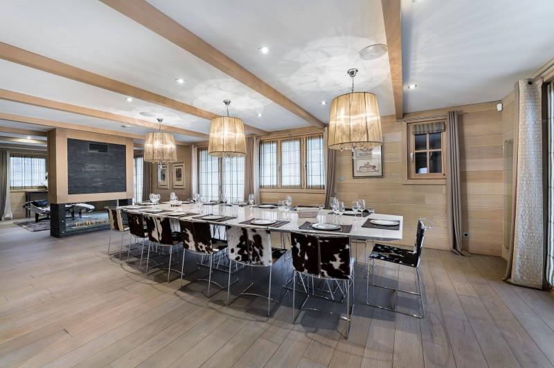 Courchevel 1650 Luxury Rental Chalet Nexiluvite Dining Room 2
