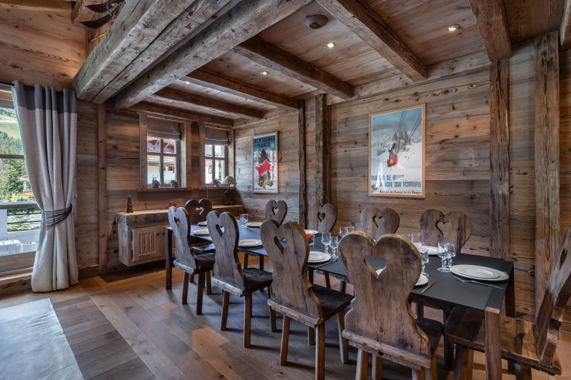 Courchevel 1850 Luxury Rental Appartment Bapilite Dining Room 2