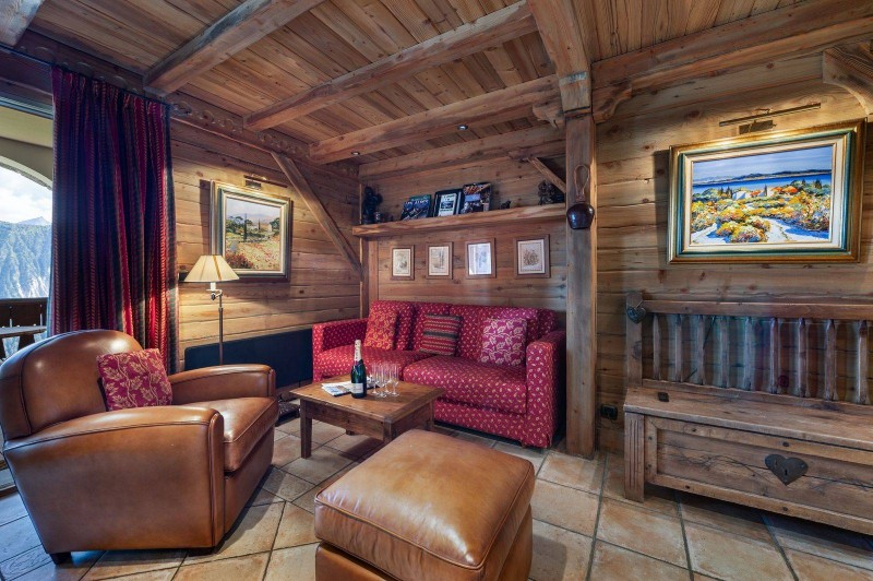Courchevel 1850 Luxury Rental Appartment Carrolate Living Room  2