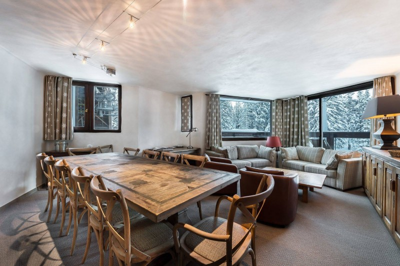 Courchevel 1850 Luxury Rental Appartment Celsiane Dining Room