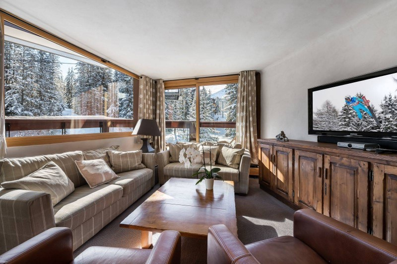 Courchevel 1850 Luxury Rental Appartment Celsiane Living Room
