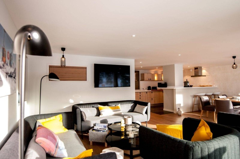 Courchevel 1850 Luxury Rental Appartment Cesonite Living Room