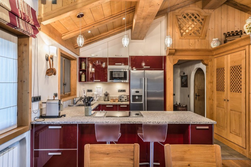 Courchevel 1850 Luxury Rental Appartment Cetanite Kitchen