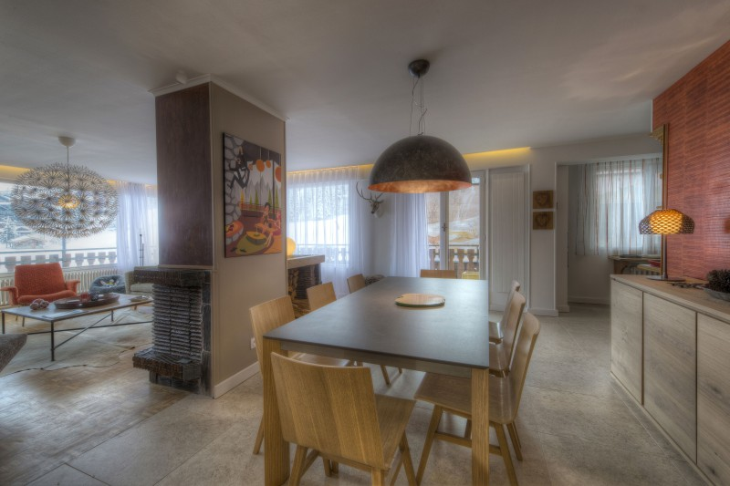 Courchevel 1850 Luxury Rental Appartment Taramite Dining Room 2