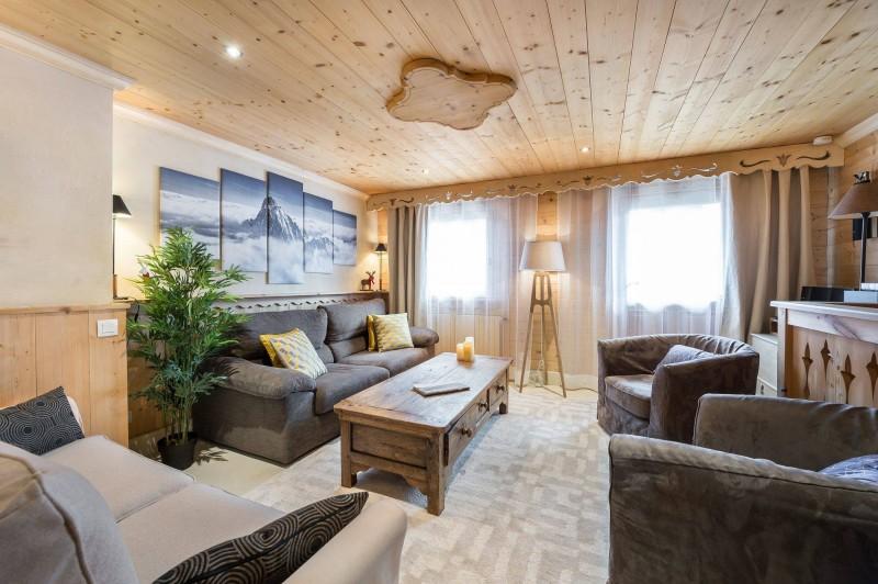 Courchevel 1850 Luxury Rental Appartment Tavorite Living Room 2
