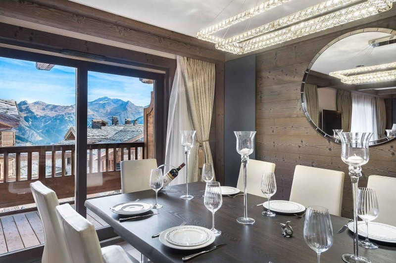 Courchevel 1850 Luxury Rental Appartment Visix Dining Room