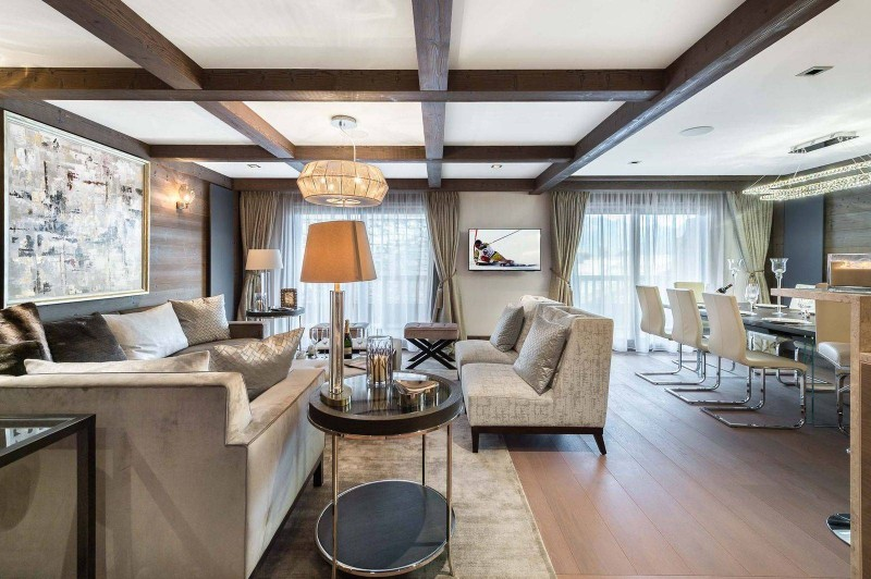 Courchevel 1850 Luxury Rental Appartment Visix Living Room