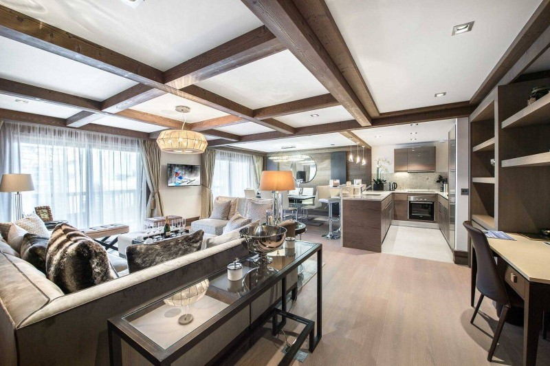 Courchevel 1850 Luxury Rental Appartment Visix Living Room 2