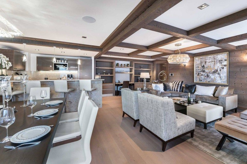 Courchevel 1850 Luxury Rental Appartment Visix Living Room 3
