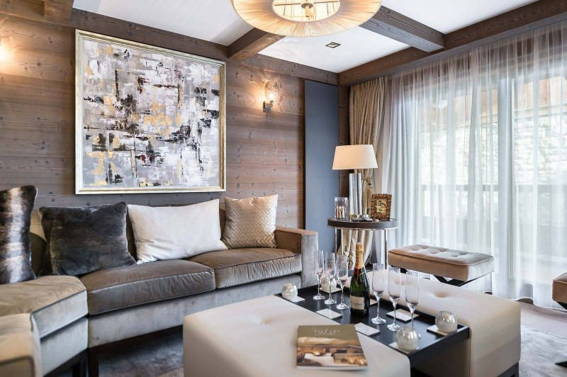 Courchevel 1850 Luxury Rental Appartment Visix Living Room 5