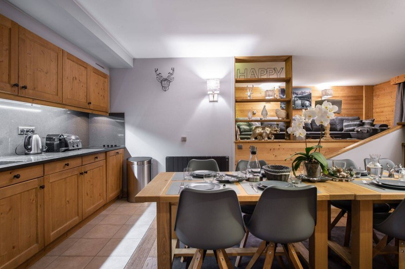 Courchevel 1850 Luxury Rental Appartment Vizrine Dining Room