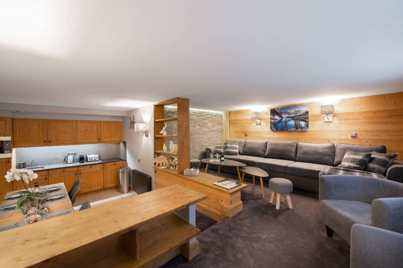 Courchevel 1850 Luxury Rental Appartment Vizrine Living Room