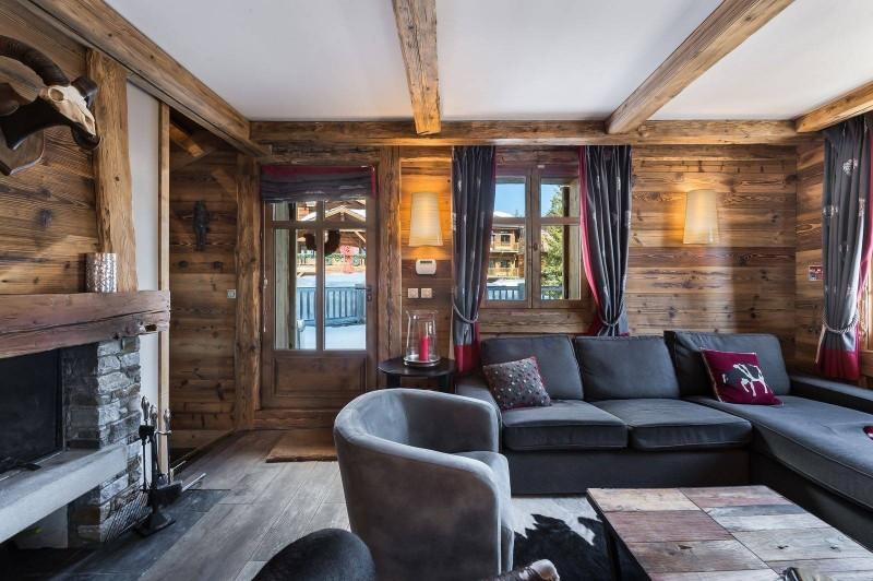 Courchevel 1850 Luxury Rental Chalet Cesarolite Living Room 4