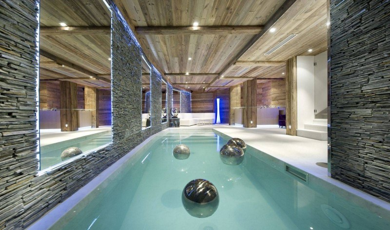 Courchevel 1850 Luxury Rental Chalet Crysotile Pool 2