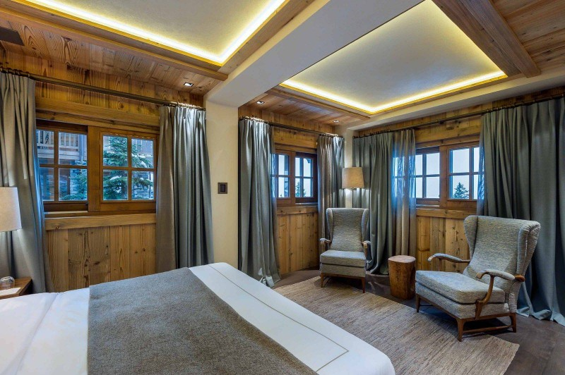 Courchevel 1850 Location Chalet Luxe Chudobaïte Bedroom 2