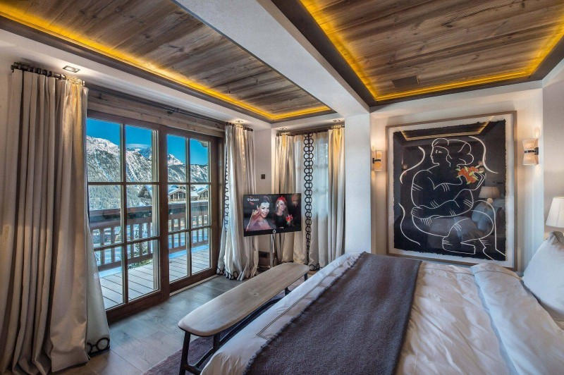 Courchevel 1850 Location Chalet Luxe Chudobaïte Bedroom 5