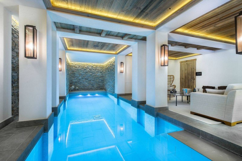 Courchevel 1850 Location Chalet Luxe Chudobaïte Pool