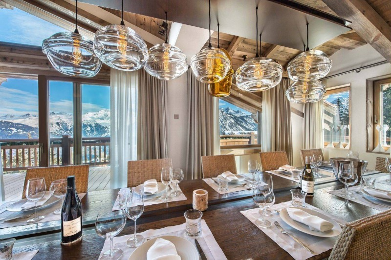 Courchevel 1850 Location Chalet Luxe Chudobaïte Dining Room
