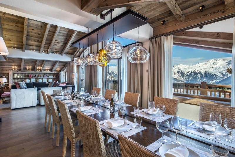 Courchevel 1850 Location Chalet Luxe Chudobaïte Dining Room 2