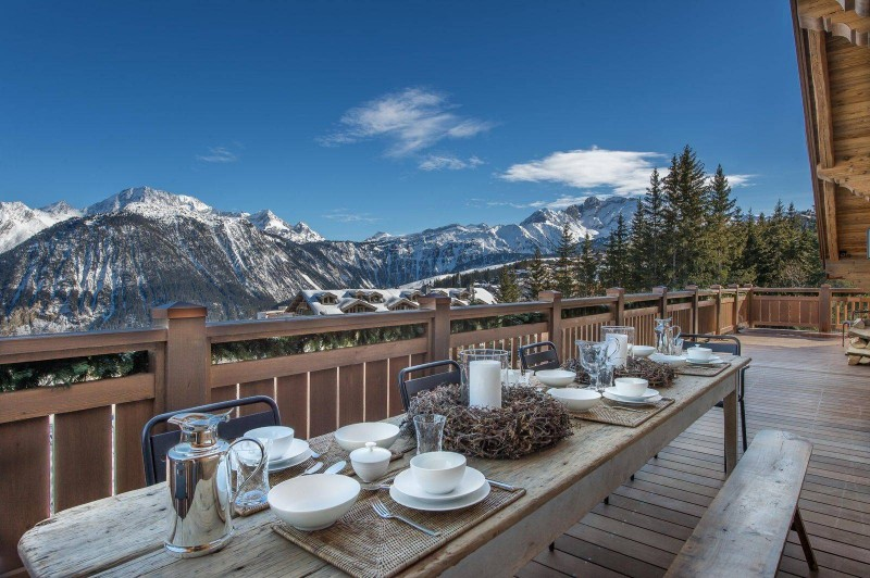 Courchevel 1850 Location Chalet Luxe Chudobaïte Terrace