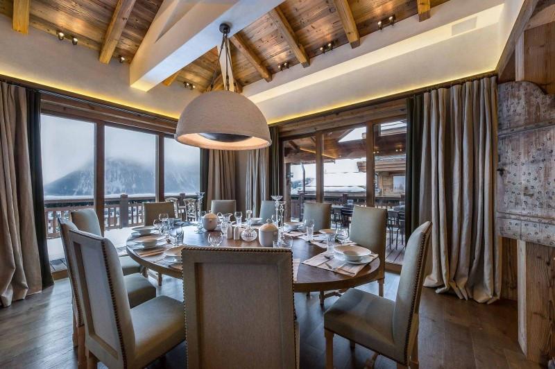 Courchevel 1850 Luxury Rental Chalet Chursinite Dining Room 2
