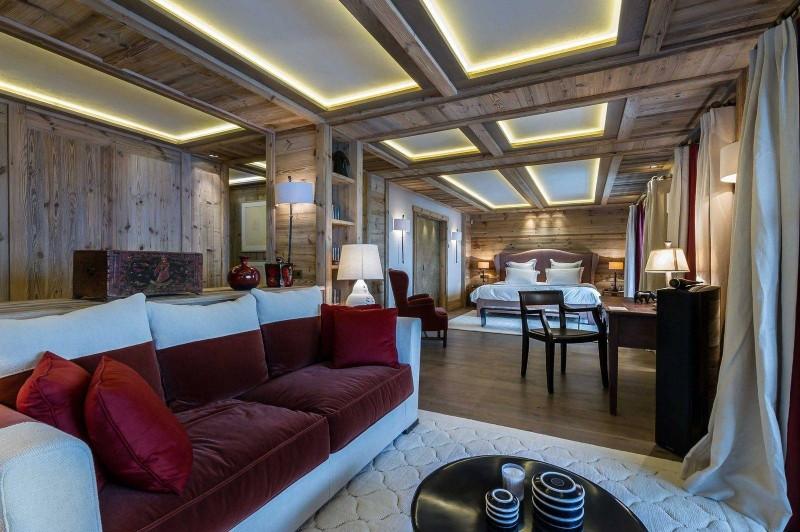 Courchevel 1850 Luxury Rental Chalet Chursinite Living Room