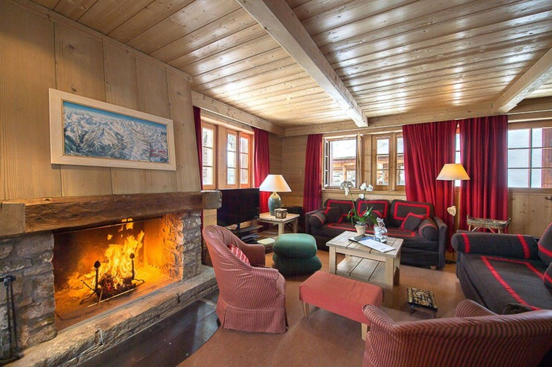 Courchevel 1850 Luxury Rental Chalet Cinnamon Living Room 2