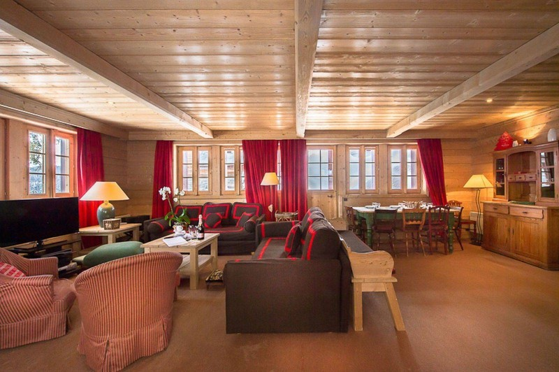 Courchevel 1850 Luxury Rental Chalet Cinnamon Living Room 4