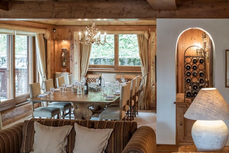 Courchevel 1850 Luxury Rental Chalet Nilia Dining Room 3