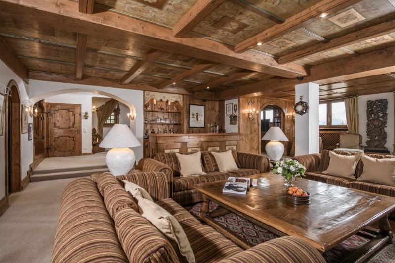 Courchevel 1850 Luxury Rental Chalet Nilia Living Room