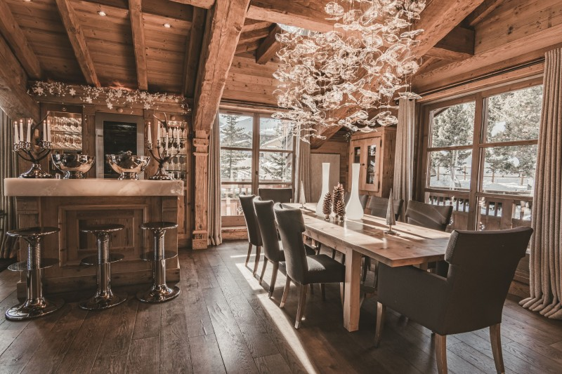 Courchevel 1850 Location Chalet Luxe Nilion Salle A Manger