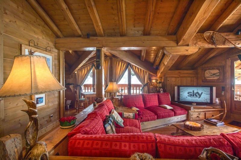 Courchevel 1850 Luxury Rental ChaletTantalite Living Room 4