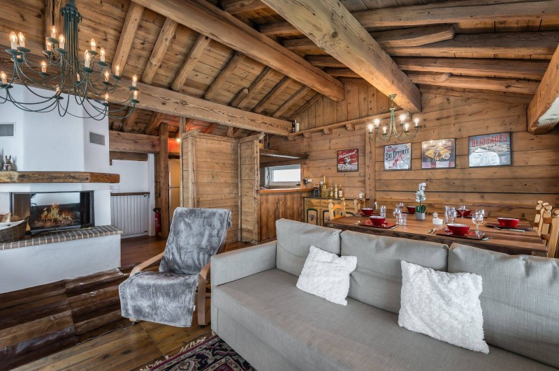 Courchevel 1850 Luxury Rental Chalet Tazuy Living Room
