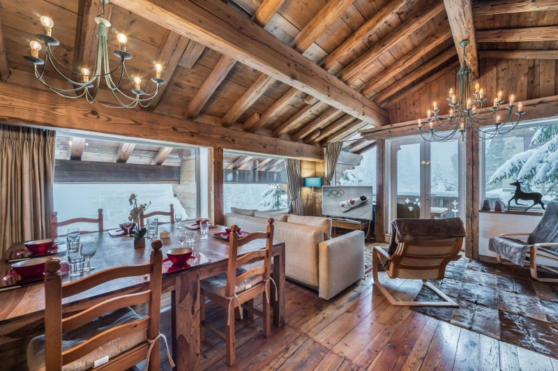 Courchevel 1850 Luxury Rental Chalet Tazuy Living Room 2