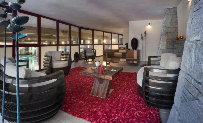 Flaine Rental Apartment Luxury Fangite Duplex Reception
