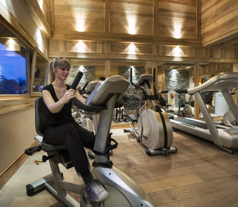 Flaine Rental Apartment Luxury Fassaite Duplex Fitness Room