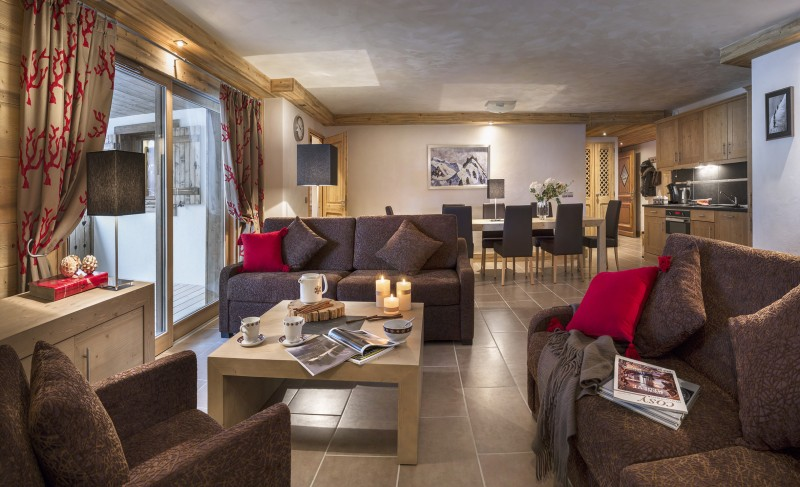 Flaine Rental Apartment Luxury Fassaite Duplex Living Room