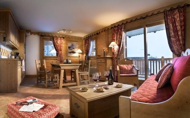 La Plagne Location Appartement Dans Résidence Luxe Jalute Duplex Salon 1